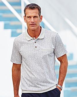Premier Man Stone Ribbed Hem Polo shirt