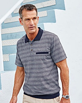 Premier Man Welted Hem Checked Polo
