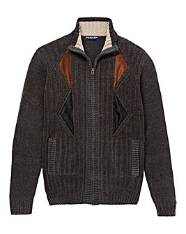Premier Man Charcoal Zip Cardigan