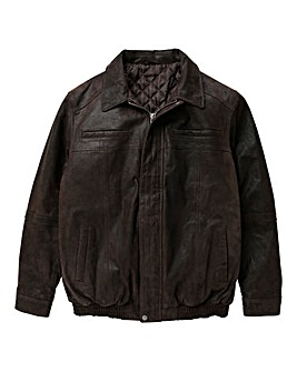 W&B Brown Leather Jacket R