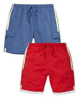 WILLIAMS & BROWN Pack Of 2 Swimshorts