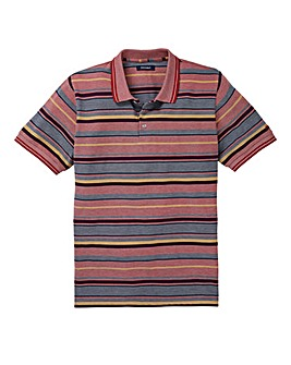 Southbay Unisex S/S Orange Stripe Polo