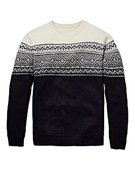 Southbay Unisex Navy Fairisle Sweater