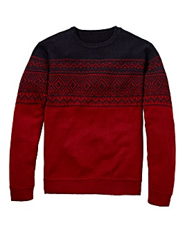 Southbay Unisex Red Fairisle Sweater