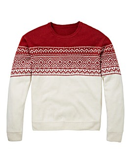 Southbay Unisex Cream Fairisle Sweater