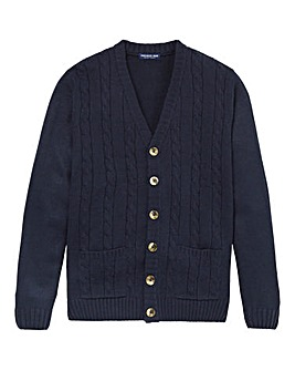 Premier Man Navy Cable Cardigan