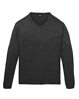 Capsule Charcoal V Neck Jumper R