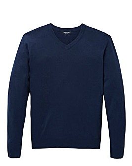 Capsule Navy V-Neck Jumper R