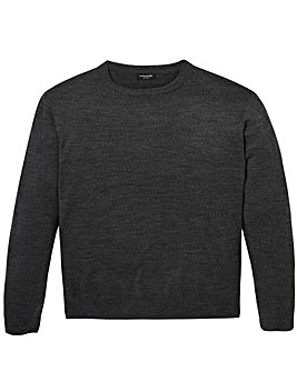 Capsule Charcoal Crew Neck Jumper R