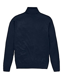 Capsule Navy Roll Neck Jumper R