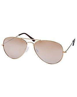 Accessorize Gold Aviator Sunglasses