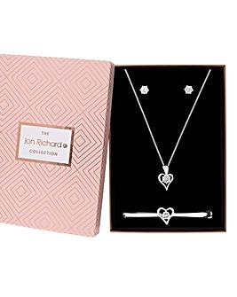 Jon Richard Heart Jewellery Set