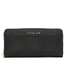 Michael Kors Saffiano Zip Around Wallet
