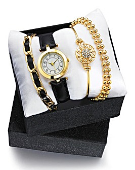 Ladies Four-Piece Watch & Jewellery Set