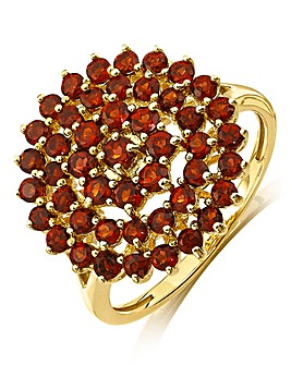 9ct Gold Ruby Cluster Ring