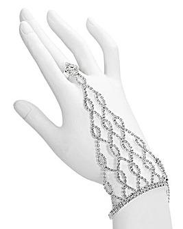 Glitzy Diamante Hand Chain