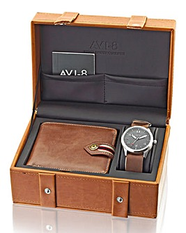 AVI-8 Gents Watch and Wallet Gift Set