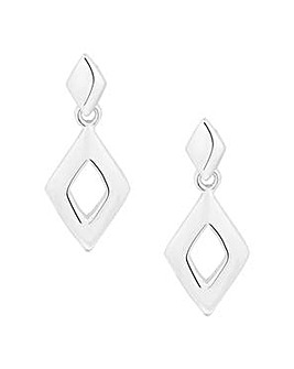 Simply Silver Geometric Drop Earring