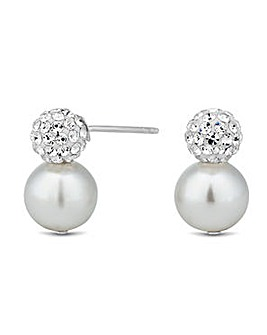 Simply Silver Pave Crystal Earring
