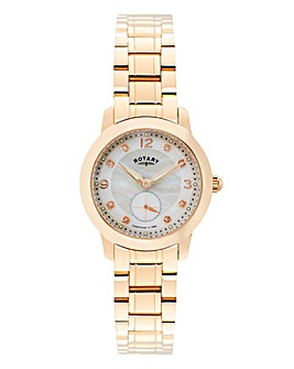Rotary Ladies Rose-Tone Bracelet Watch