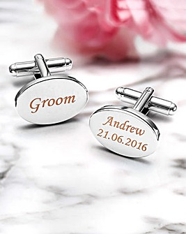 Stainless Steel Personalised Cufflinks