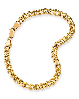 1/2OZ Rolled Gold Curb Bracelet