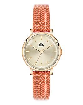 Orla Kiely Ladies Stem Print Strap Watch