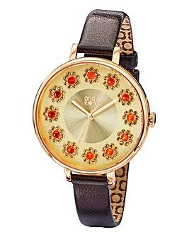 Orla Kiely Crystal Flower Dial Watch