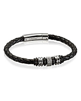 Fred Bennett Gents Leather Bracelet