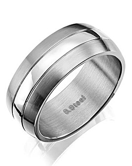 Fred Bennett Gents Stainless Steel Ring