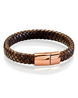Fred Bennett Brown Leather Bracelet
