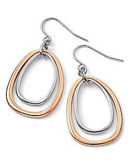 Fiorelli Two-Tone Oval Earrings