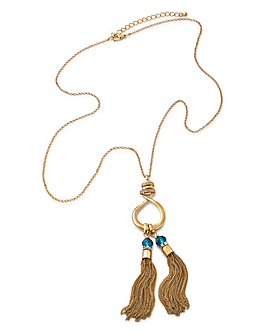 Long Double Tassel Necklace