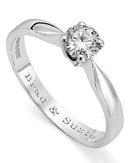 Moissanite Personalised 1/2 Carat Ring