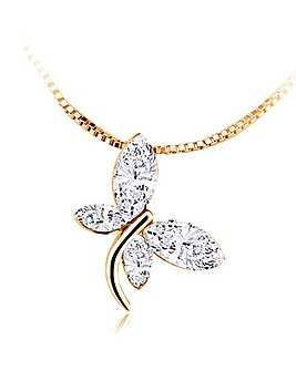 Spangles Crystal Butterfly Necklace