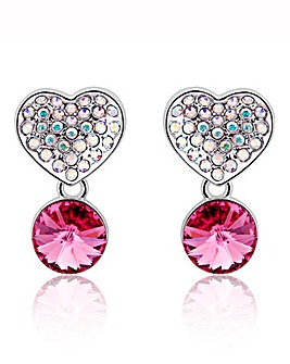 Spangles Crystal Heart Earrings