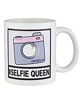 Personalised Selfie Queen Mug