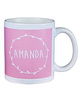 Personalised Laurel Garland Mug