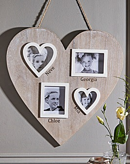 Personalised Wooden Heart Photo Frame