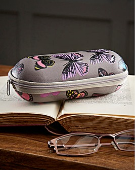 Butterfly Print Glasses Case