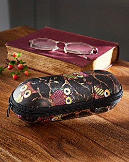 Owl Print Glasses Case