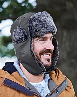 Faux Fur Trimmed Trapper Hat