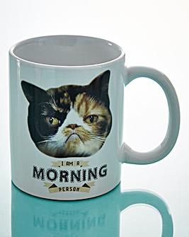 Cranky Cat I Am A Morning Person Mug
