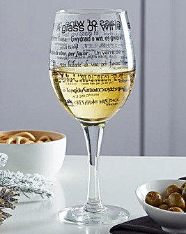Order Wine Around the World Wine Glass
