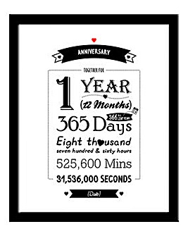 Personalised Framed Anniversary Print