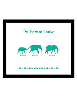 Personalised Elephant Family Frame