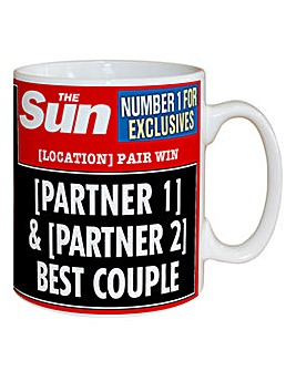 Personalised Best Couple Headline Mug