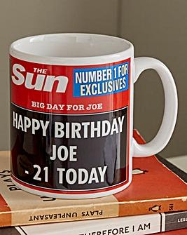 Personalised Birthday Headline Mug