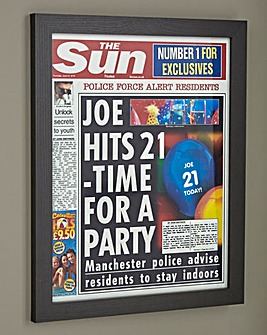 Personalised Framed Birthday Newspaper