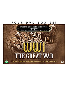 Personalised 4 DVD Box Set WW1